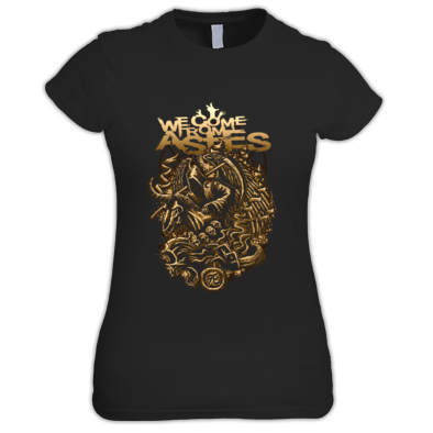 Grim Unicorn Gold Womens T Shirt