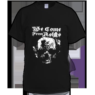 Monotone Skull T Shirt