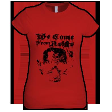 Monotone Skull Womens T Shirt