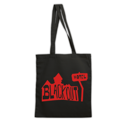 Blackout Hotel Logo Reusable Shopping Bag