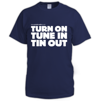 Mens Purple Radio Turn On Tune In Tin Out