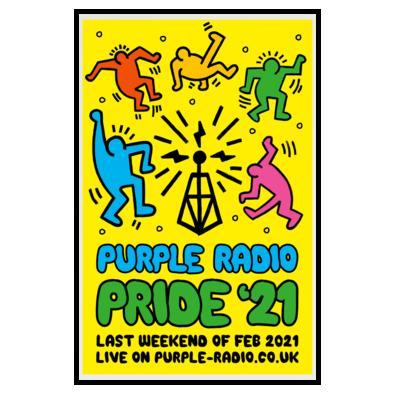 Purple Radio Pride poster