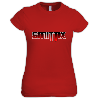 Smittix Lady T-Shirt Red Logo