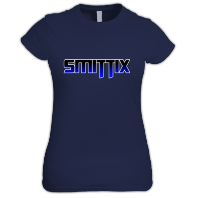 Smittix Lady T-Shirt Blue Logo