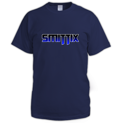 Smittix Men's T-shirt Blue Logo