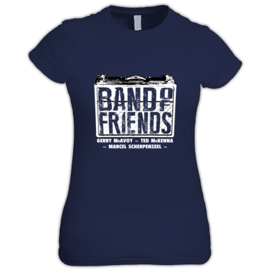 Band Of Friends - Womens T-Shirt (White Logo)