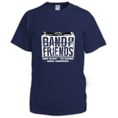 Band Of Friends - Mens T-Shirt (White Logo)
