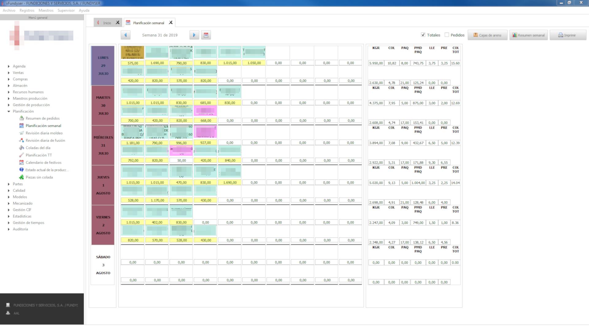 planificación automática de líneas de producción