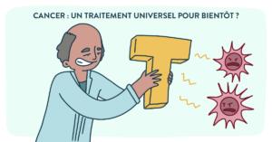 Blog Doctoome | Cancer : un traitement universel pour bientôt ?-dessin-docteur-cellule T-cancer