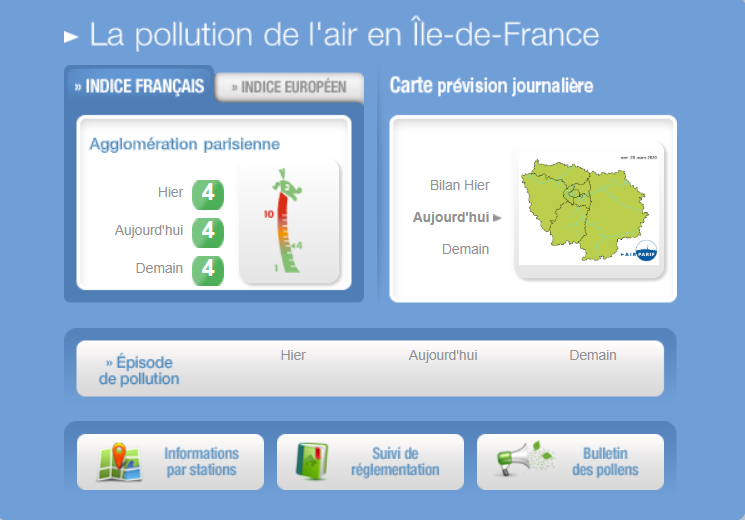 Blog Doctoome - La qualité de l'air en nette amélioration à Paris