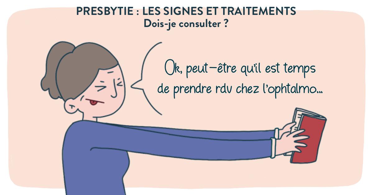 Presbytie : les signes et traitements.