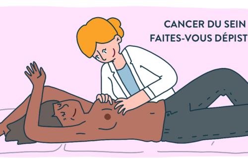 depistage cancer du sein : consultation avec un professionnel