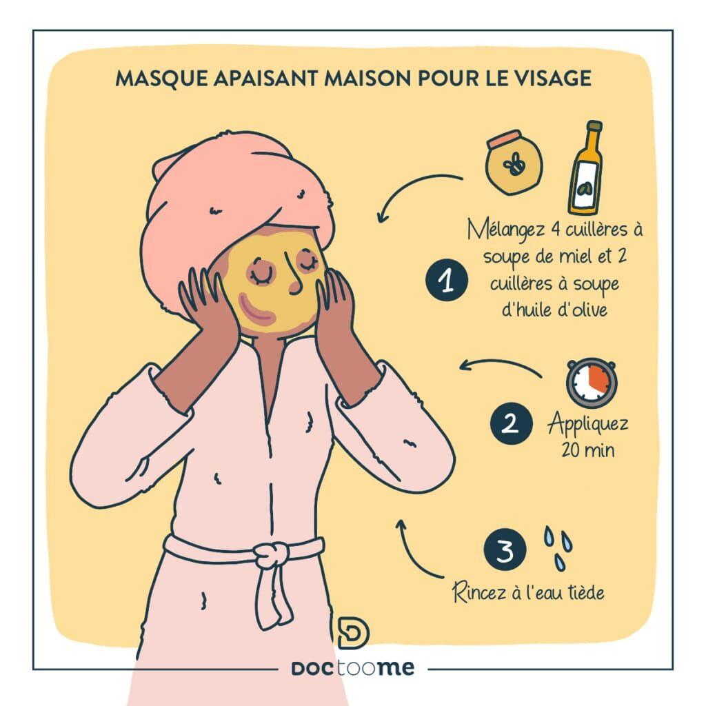 lutter contre le froid : masque apaisant pour le visage