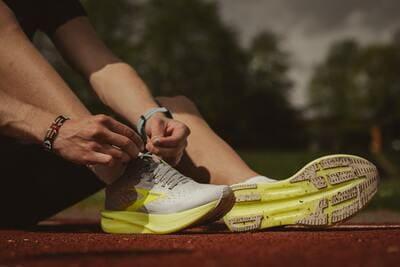 Amortissement chaussures de sport
