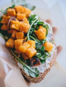 Recette automne : tartine de patate douce
