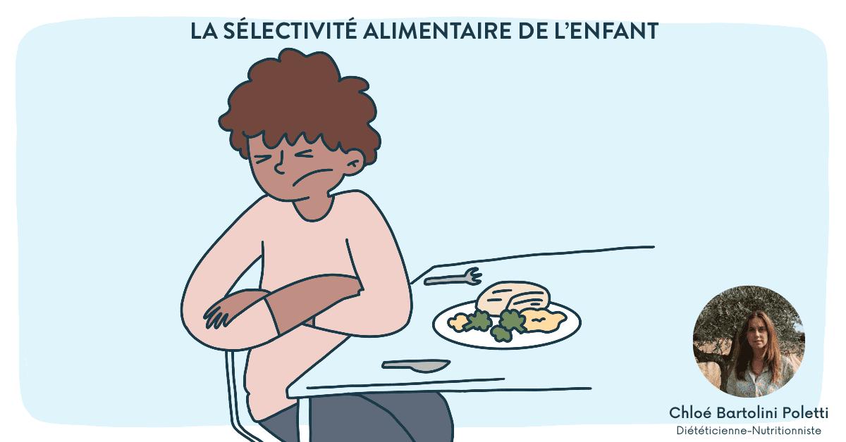 La sélectivité alimentaire de l'enfant