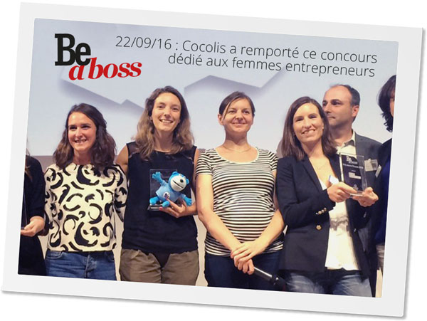 Cocolis gagnant Be A Boss Award 2016