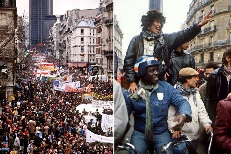 """Arribada de la """"Marche des Beurs"""" a París, 1983 / Dominique Faget (AFP)"""