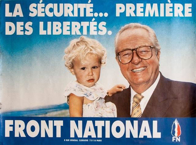 Cartell electoral del Front National dels anys 90
