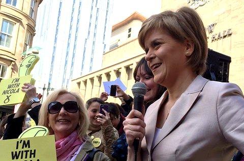 L'actual presidenta de l'SNP, Nicola Sturgeon, durant la campanya / Christine McIntosh
