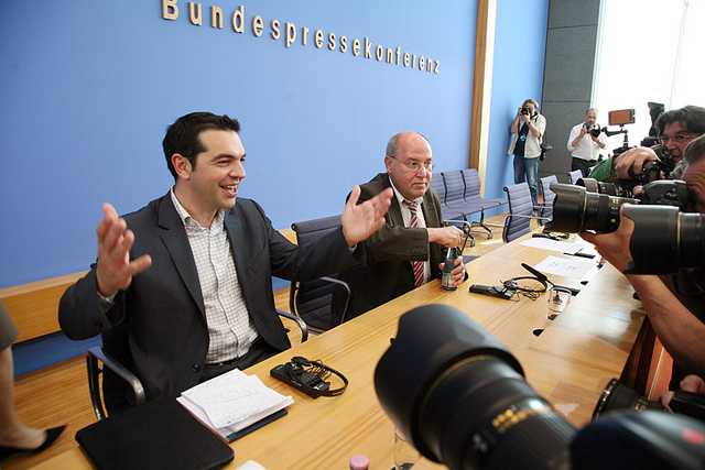Alexis Tsipras, de visita al partit Die Linke, a Alemanya / DIE LINKE
