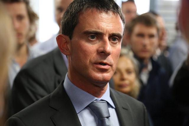 El primer ministre Manuel Valls, ha endurit el seu discurs i ha / Michel Brian