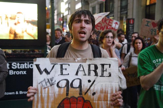 Una imatge de les mobilitzacions d'Ocuppy Wall Street / PAUL STEIN