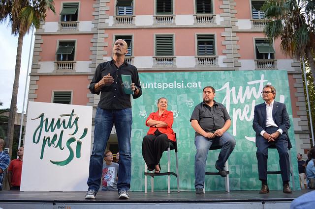 Romeva, Junqueras i Mas, de Junts pel Sí / CDC