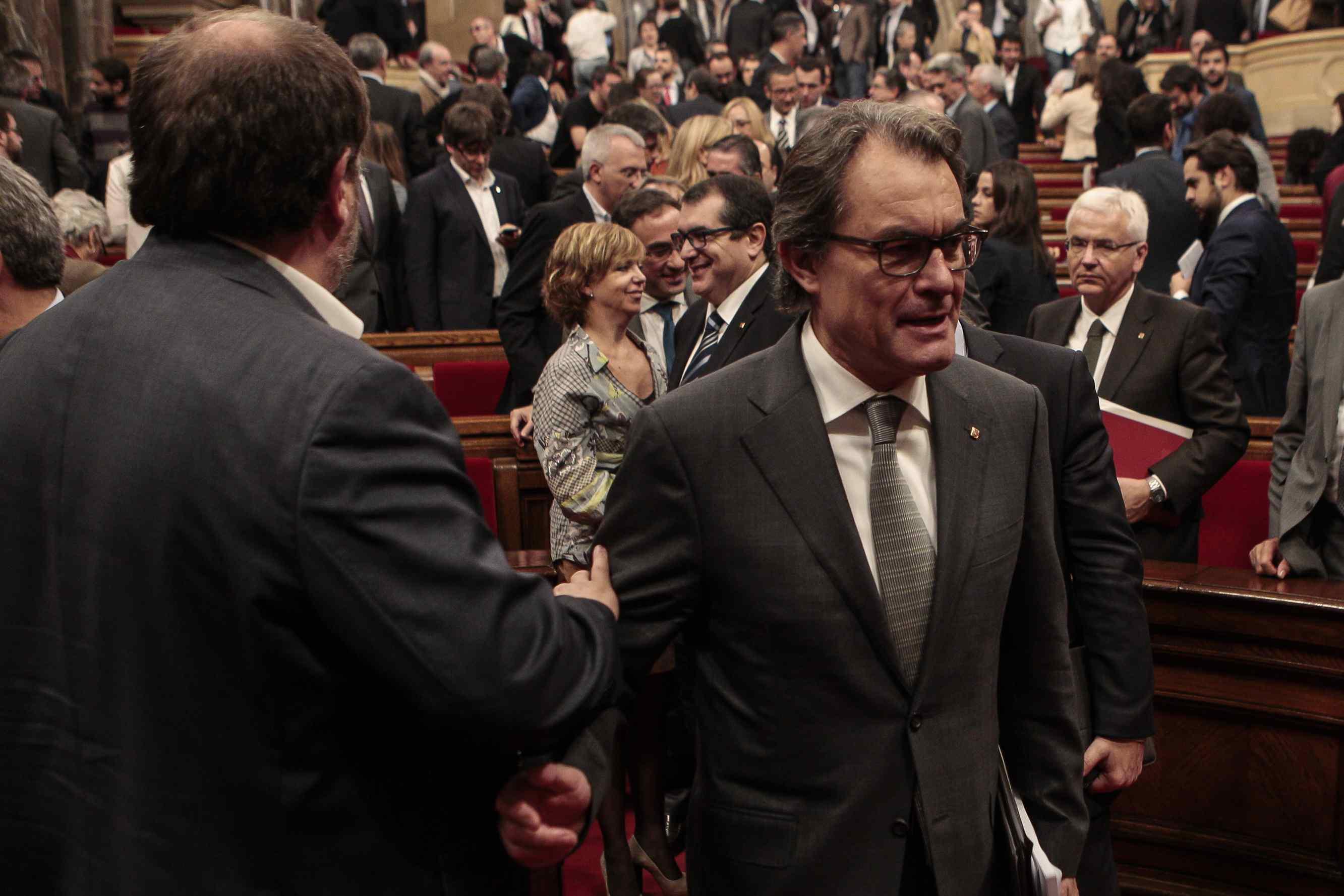 Mas i Junqueras, al debat d'investidura / PARLAMENT