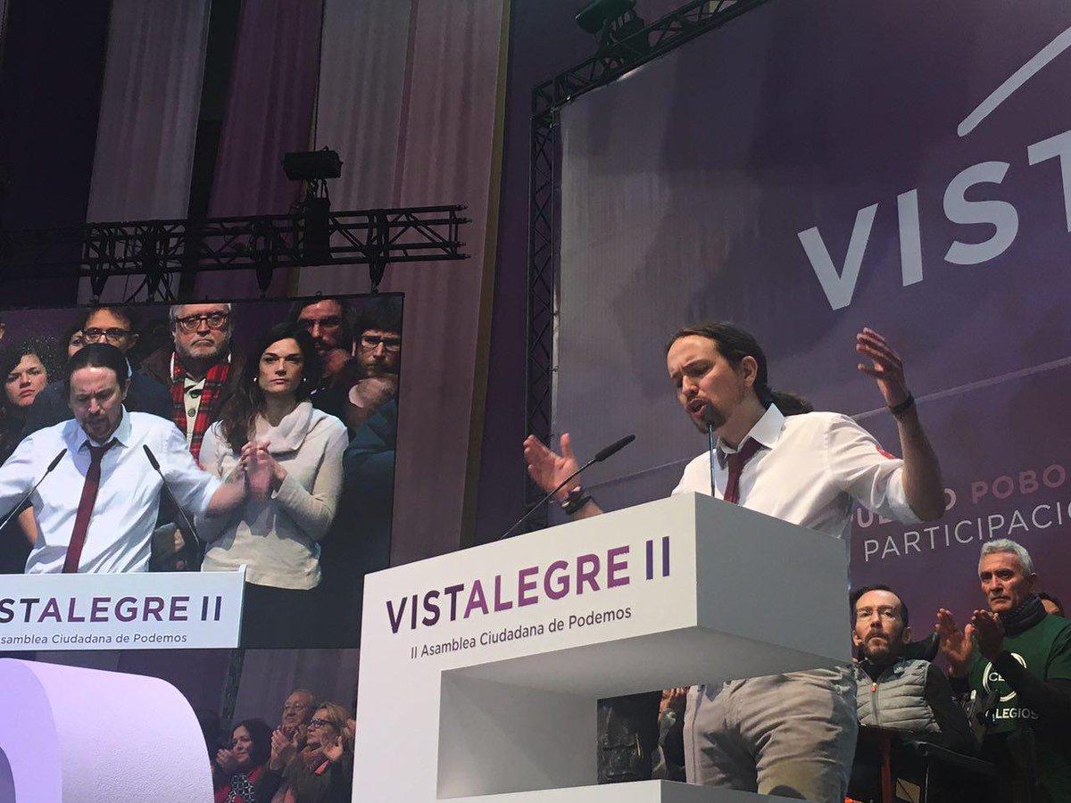 Pablo Iglesias en una intervenció a Vistalegre / AHORA PODEMOS