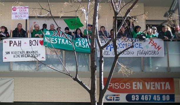 Protesta de la PAH de Barcelona / C. MORENO