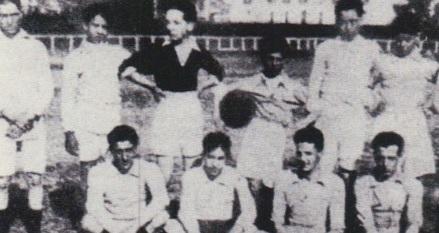 L'equip que va perdre per 22-0 davant del Sevilla, l'any 1918 / Arxiu Betis