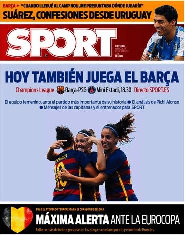 Portada Sport 23-3-16