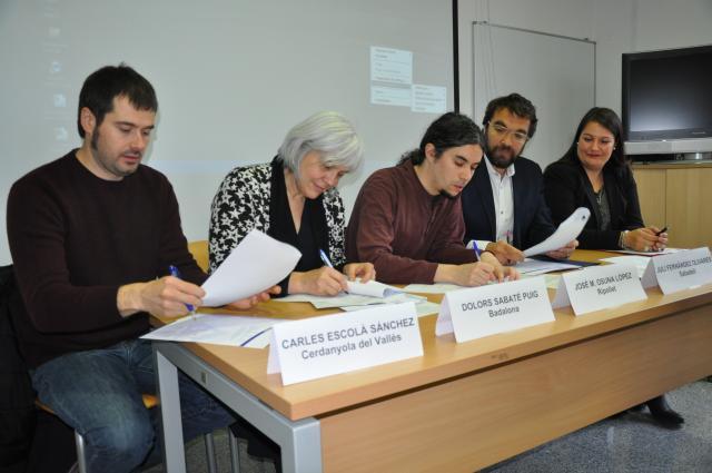 Signatura del conveni entre els cinc ajuntaments / AJUNTAMENT DE RIPOLLET