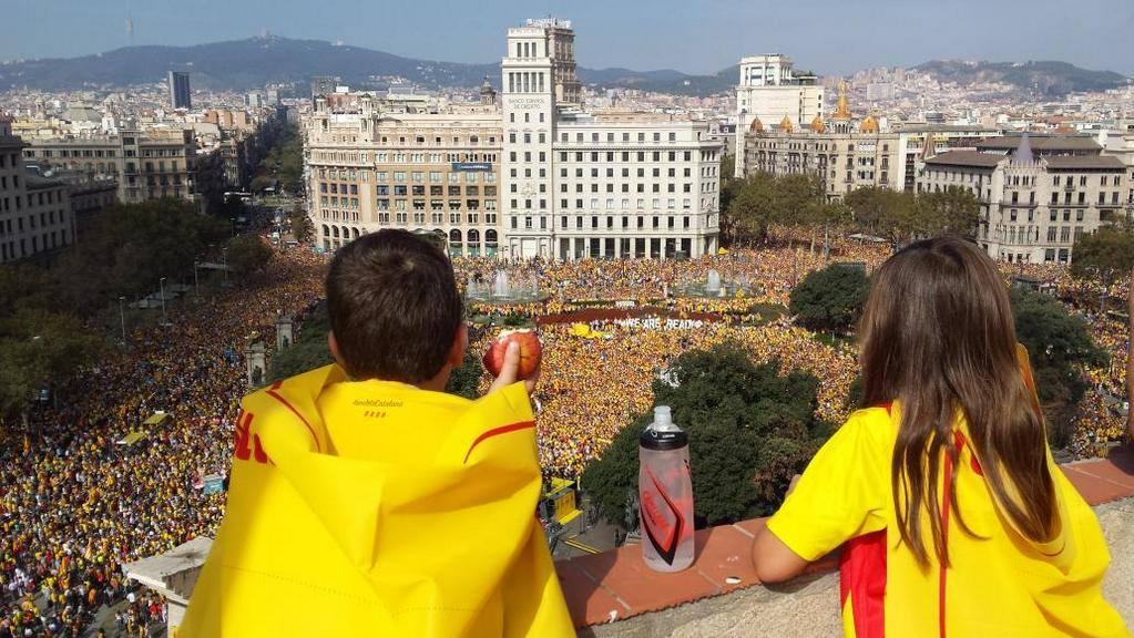 Acte sobiranista a Plaça Catalunya. Foto: Francesc de Dalmases