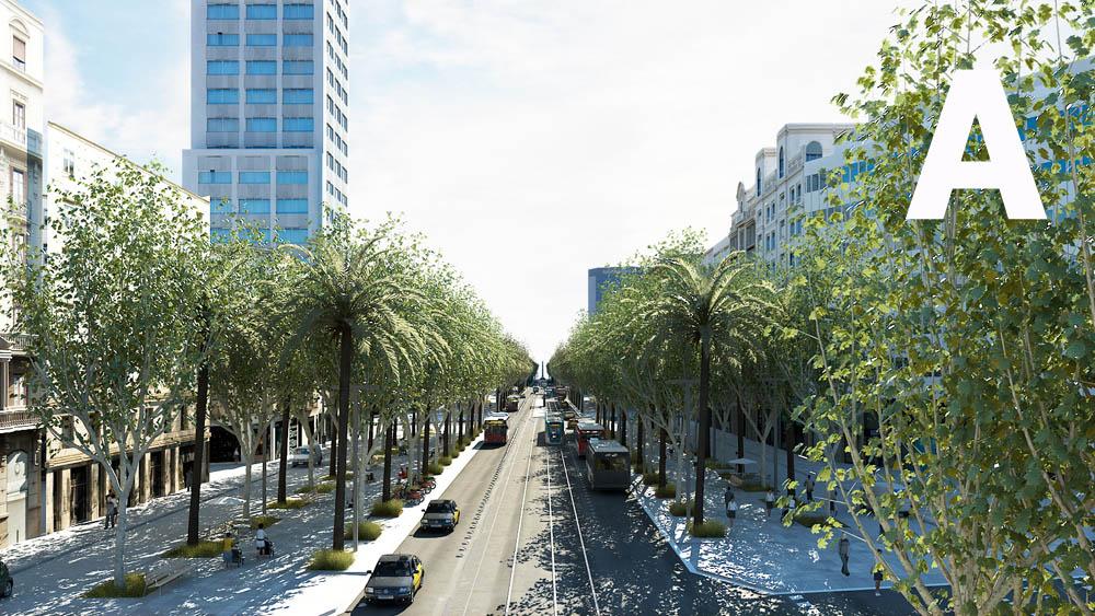 Imatge de la porposta de reforma de la Diagonal duta a consulta l'any 2010.
