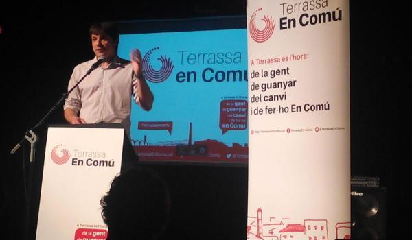 Xavi Mantilla, alcaldable de Terrassa en Comú. Foto: TeC.