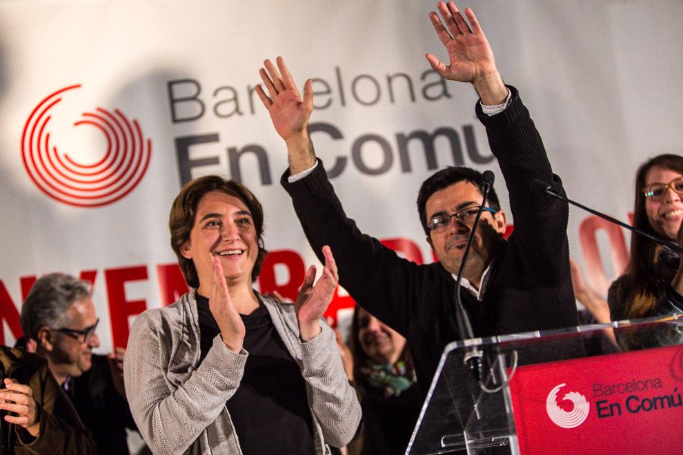 Ada Colau i Gerardo Pisarello. Foto: Jordi Borràs