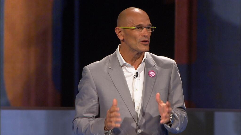 Raül Romeva al debat de TV3. Foto: CCMA