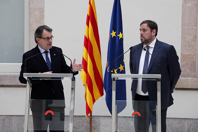 Artur Mas i Oriol Junqueras. La reedició de Junts pel Sí està a l'aire. Foto: CDC