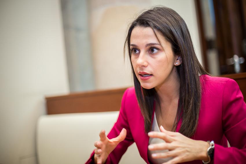 Inés Arrimadas, cap de files de Ciutadans al Parlament. Foto: Jordi Borràs