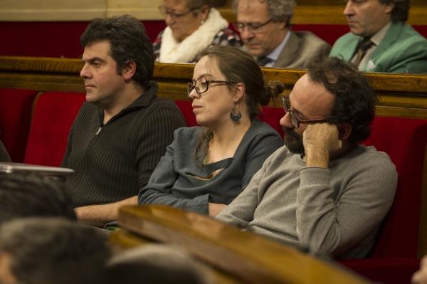 Els diputats de la CUP al Parlament. Foto: Job Vermeulen / Parlament