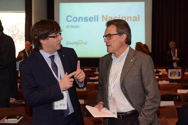 Puigdemont i Mas al consell nacional de CDC del passat 4 de maig. Foto: CDC