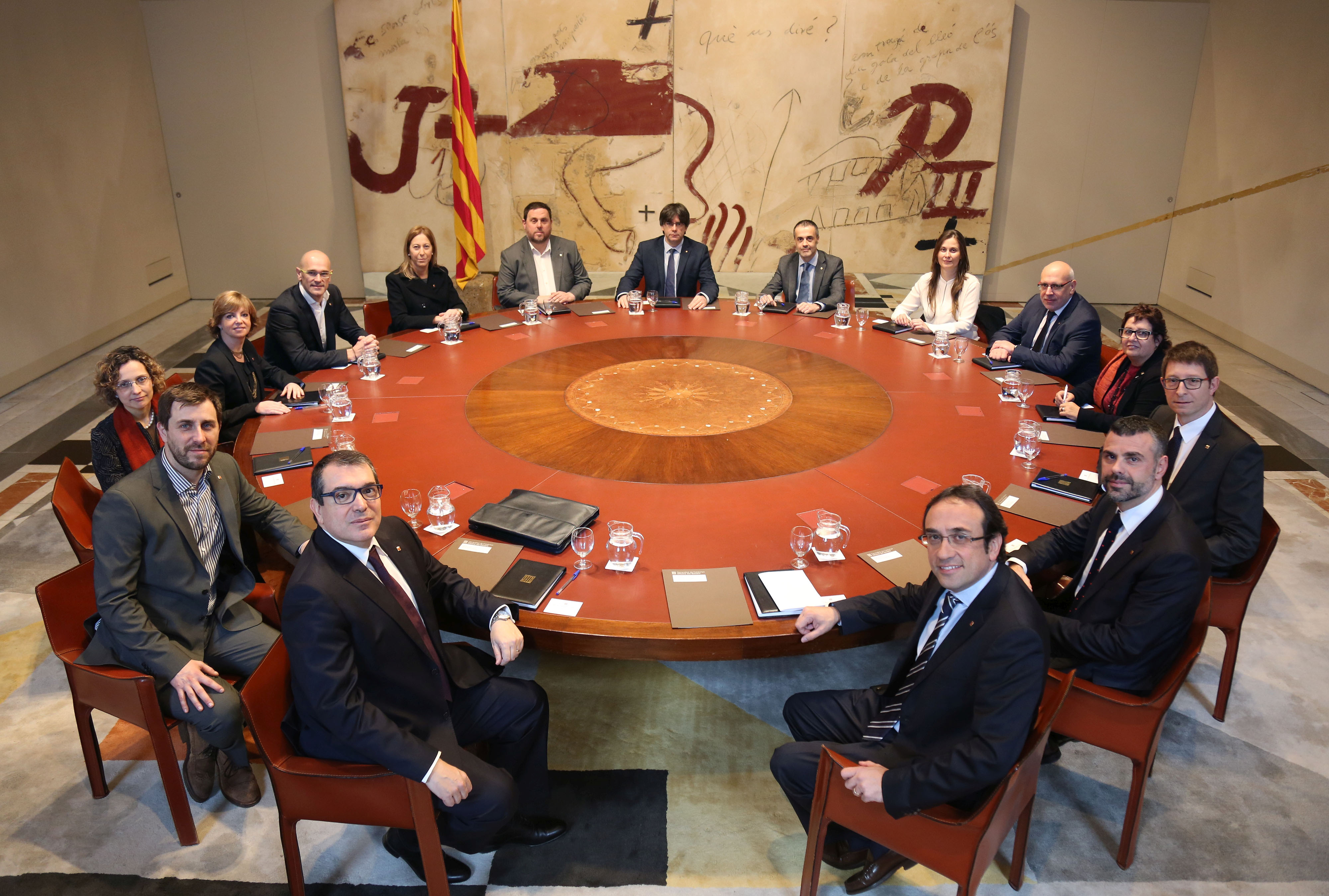 Foto de la primera reunió del Consell Executiu de Junts pel Sí. Foto: Govern