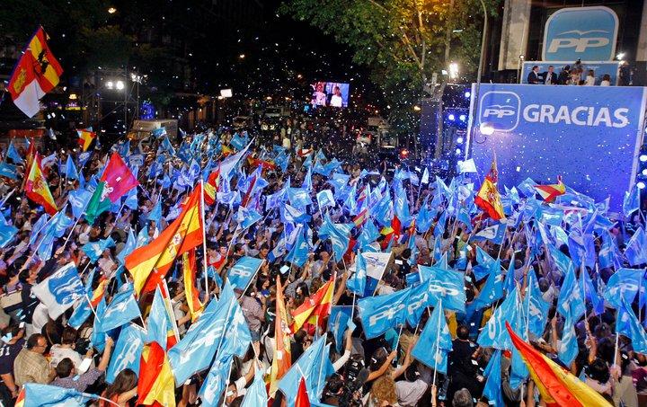 Celebració de la victòria del Partit Popular a Madrid. Foto: PP