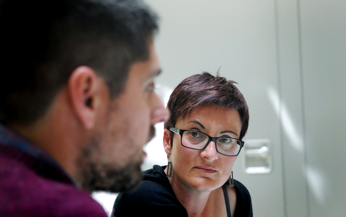 David Cid i Marta Ribas, els nous coordinadors d'ICV. Foto: Ivan G. Costa