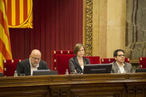 La presidenta del Parlament afronta un judici per desobediència. Foto: Parlament.cat