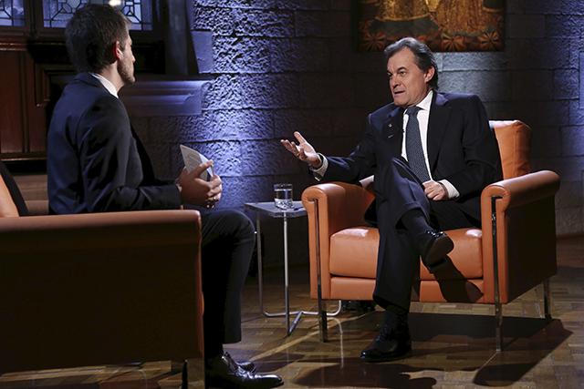 Entrevista al president Artur Mas, a Televisió de Catalunya / TVC