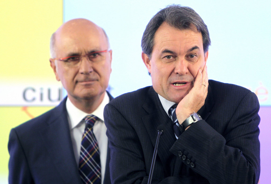 Josep Antoni Duran Lleida i Artur Mas, en roda de premsa / CiU