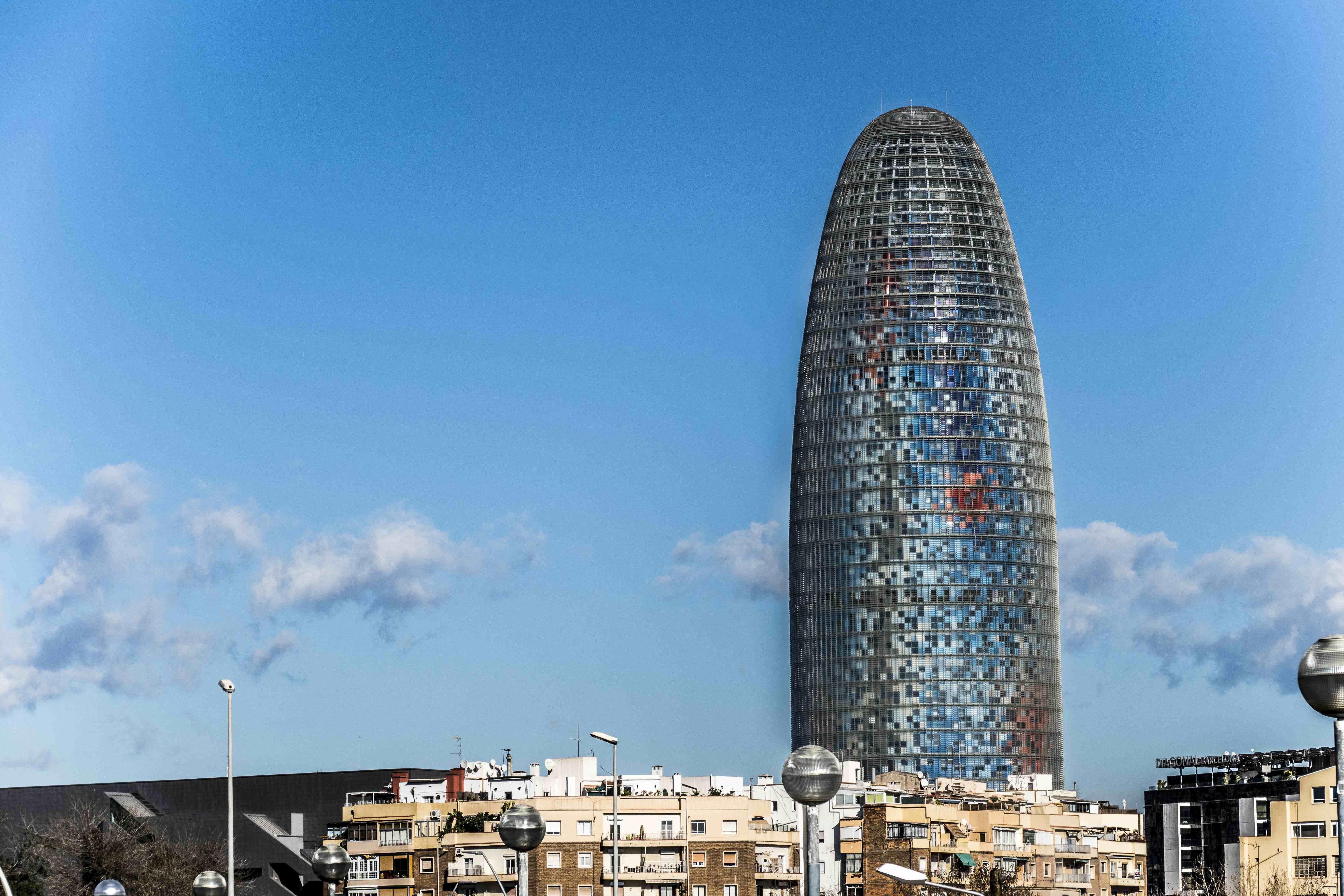 Torre Agbar, d'Aigües de Barcelona / ARXIU